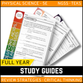 Physical Science Study Guide Bundle - Google Classroom - Distance Learning
