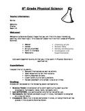 Physical Science Syllabus: Editable