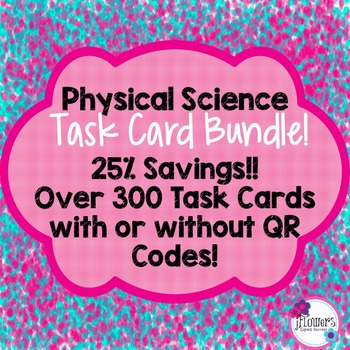 Physical Science Task Card Bundle! 25% Savings!