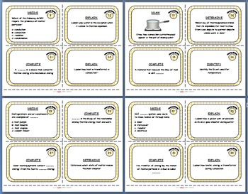 Physical Science Task Card Bundle - 400+ task cards!