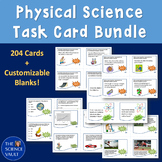 Middle School Science Task Card Bundle - Chemistry, Physics, General Science