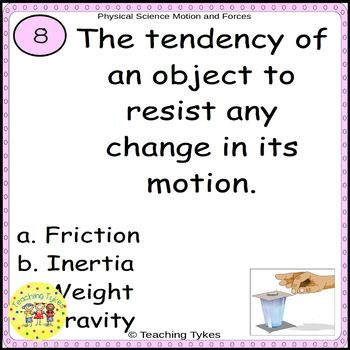 Physical Science Task Cards