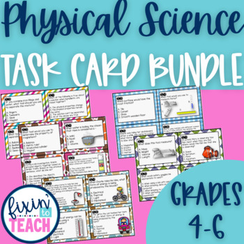 Physical Science Task Cards Bundle {QR Code Answers}