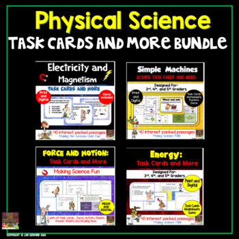 Physical Science Task Cards Pack