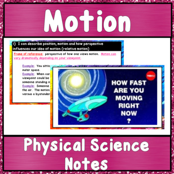Physical Science Unit 1:  Motion, Speed, and Acceleration Guided Notes