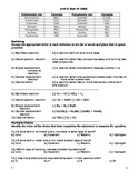 Physical Science Unit 5 Test Exam Questions Chemical Formu