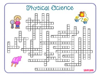 Physical Science Unit Crossword Puzzle