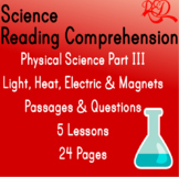 Physical Science Reading Comprehension Passages | Light He