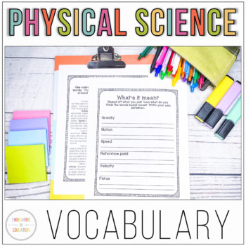 Physical Science Vocabulary Acquisition