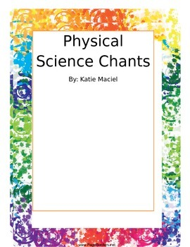 Physical Science Vocabulary Chants