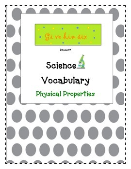 Physical Science Vocabulary Packet