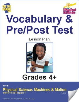 Physical Science Vocabulary & Pre/Post Test