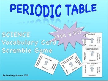 Physical Science Vocabulary Scramble Game: PERIODIC TABLE