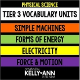 Force and Motion, Simple Machines, Energy, & Electricity Vocabulary BUNDLE