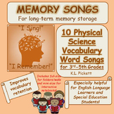 Physical Science Vocabulary Word Songs for Third to Fifth Grades
