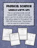 Physical Science Weekly Warm-Ups GROWING BUNDLE