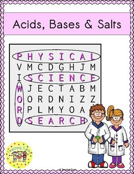 Acids Bases Salts Word Search