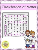 Classification of Matter Word Search