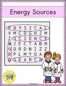 Energy Sources Word Search