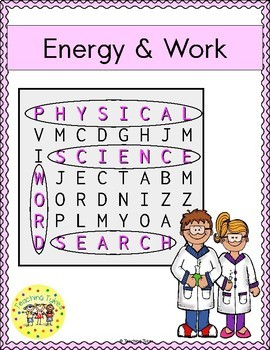 Energy and Work Word Search