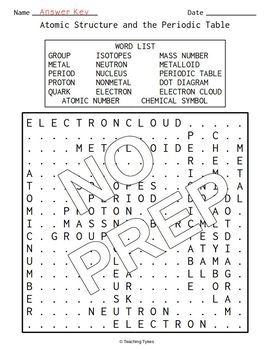 Physical Science Word Search Puzzles
