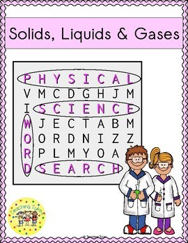 Solids Liquids Gases Word Search