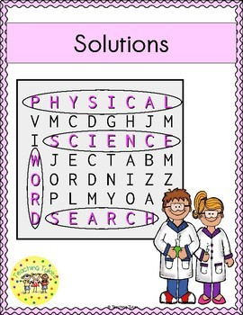 Solutions Word Search