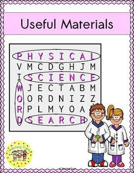 Useful Materials Word Search