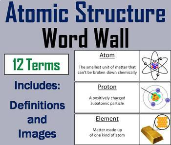 Physical Science Word Wall Bundle: Energy, Matter, Scientific Method, Waves etc.