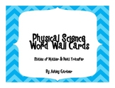 Physical Science Word Wall Cards