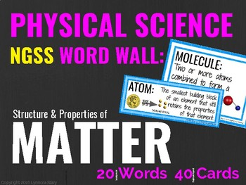 Physical Science Word Wall (NGSS): MATTER