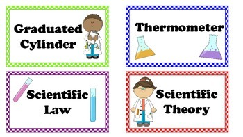 Physical Science Word Wall Vocab