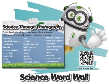 Physical Science Word Wall with Fun Facts!