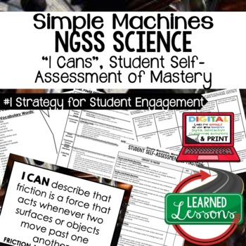 Physical Science Work, Power, & Efficiency I Cans Student Self Assessment