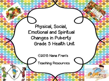 Physical, Social, Emotional and Spiritual Changes in Puberty - Grade 5