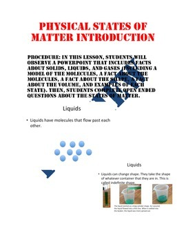 Physical States of Matter Introduction