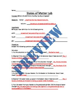 Physical States of Matter Unit