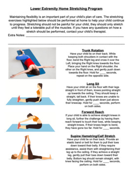 Physical Therapy- Lower Extremity Home Stretching Program