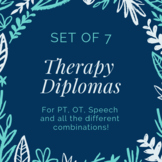 Physical Therapy, Occupational Therapy, & Speech Therapy G