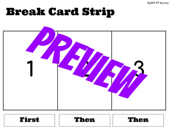 Physical Therapy or Sensory Visual Schedule Cards