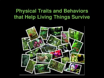 Physical Traits and Behaviors (Adaptations) that Help Living Things Survive