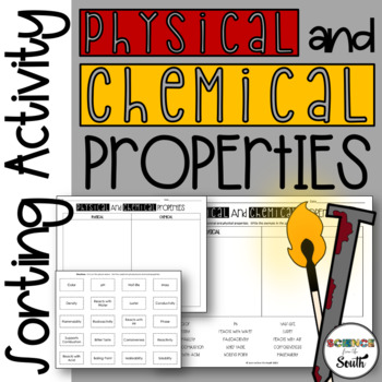 Physical VS Chemical Properties Card Sort Activity