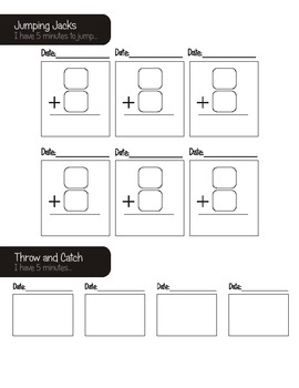 Physical activity Math booklet