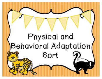 Physical and Behavioral Adaptation Sort