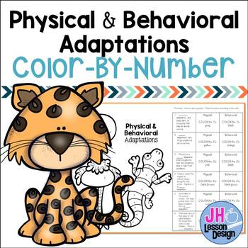 Adaptations: Physical and Behavioral:Color-By-Number