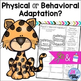 Physical and Behavioral Adaptations Cut and Paste Sorting Activity