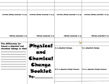 Physical and Chemical Change Booklet