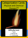 Physical and Chemical Change Categorization Cards (Card Sort)