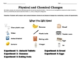 Physical and Chemical Change- Experiments