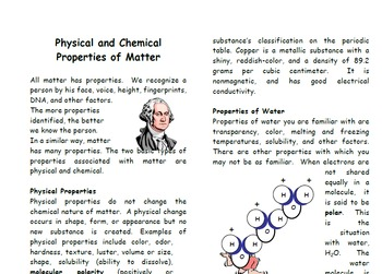 Physical and Chemical Change Foldable for Interactive Notebooks